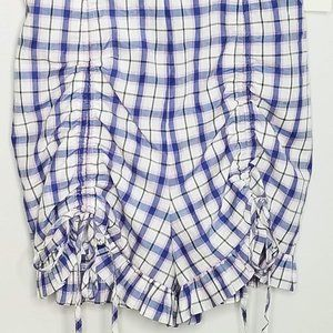 After Market Shorts - Nordstrom Plaid Romper Ties Spaghetti Straps S